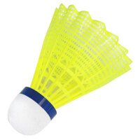 12只装塑料羽毛球耐打黄色白色训练球打不烂尼龙羽毛球
