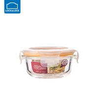 乐扣乐扣耐热玻璃饭盒保鲜盒便当盒密封碗大容量微波炉烤箱可用 130ml【圆形】