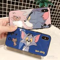 20190529123433308卡通猫和老鼠iphone8plus手机壳苹果X玻璃壳6s/7情侣XR女款XS MAX