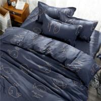 床上用品四件套棉棉1.5米床单单人学生宿舍1.2m被套1.8m