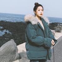 港风x2羽绒女冬外套棉袄ins面包服短款流行bf