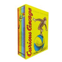 现货 英文原版绘本Curious George好奇猴乔治7册套装礼盒 汪培�E第三阶段 廖彩杏书单推荐