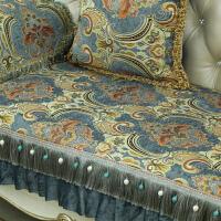 沙发垫欧式冬季防滑真皮沙发坐垫套复古美式四季通用客厅1+2