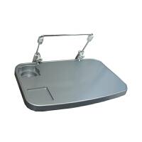 车载电脑桌子办公写字折叠小桌板汽车用后座餐桌多功能笔记本支架 挂构型 灰色