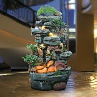 大型假山流水喷泉盆景室内山水景观石头阳台鱼缸客厅庭院鱼池