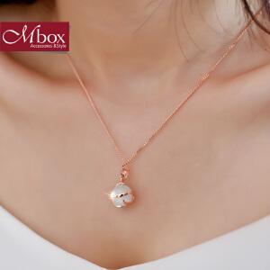 新年礼物Mbox项链 女款韩国版原创采用波西米亚风时尚猫眼石锁骨项链 相守