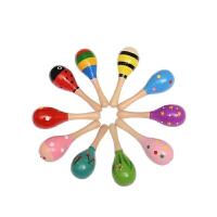 儿童小沙锤摇铃响棒婴儿玩具0-6个月新生儿宝宝手指沙捶摇铃 小号一个