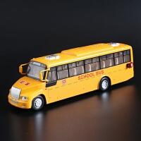 儿童玩具汽车 彩珀合金美国大校车巴士回力汽车模型 校巴模型玩具 授权