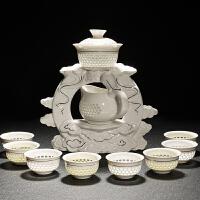 茶具套装 家用整套景德镇陶瓷简约茶杯功夫 懒人半全自动泡茶壶器