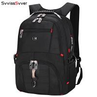 瑞士�刀�p肩包 男士背包15.6寸商�针��X包休�e��包大容量旅行包