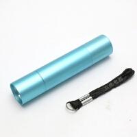 迷你袖珍小型手电筒5号电池儿童幼儿园晨检照明可爱女士强光LED灯 蓝色 送2节电池