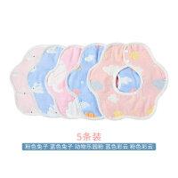 宝宝口水巾纱布口水围兜纯棉防水婴儿围嘴360度旋转新生儿防吐奶