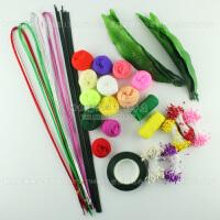 丝袜花丝网花套餐 DIY手工材料新手材料包  牡丹花套装 花艺材料做花材料套装