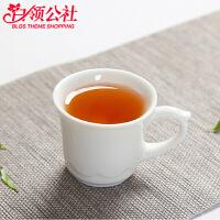 白领公社 茶杯 陶瓷单个下午茶杯子带把加厚耐高温大容量65ML复古欧式德化白瓷家居日用品泡茶杯茶具