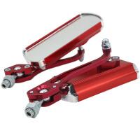 自行车后视镜 铝合金电动车反光镜车把安全镜倒车镜单车配件 红色单个