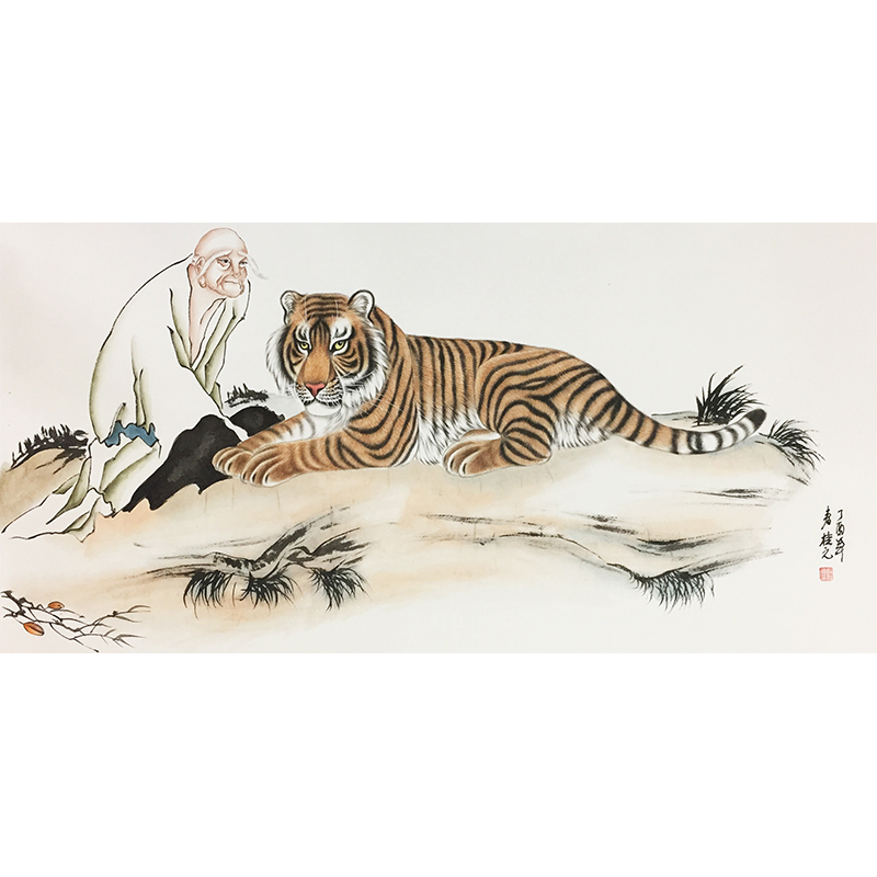 姚桂元《罗汉》著名画家
