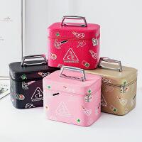 可爱韩版大容量化妆包便携手提化妆箱女生化妆品收纳盒小方包