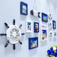 创意地中海照片墙客厅实木相框墙挂墙儿童卧室相片墙组合背景欧式