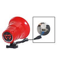 户外车载扩音器12v90v充电三轮喊话器地摊宣传广告可录音叫卖喇叭 锂电录音喇叭USB充电线 可充电,内置电池