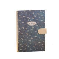 金谷洗净铅华磁扣本 复古涂边笔记本日记本记事本