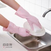 进口天然橡胶洗碗手套防水橡胶厨房薄款洗衣衣服胶皮塑胶清洁家务