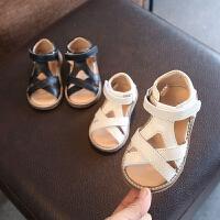 宝宝软底凉鞋女童夏新款婴儿学步鞋真皮幼儿防滑可爱公主鞋
