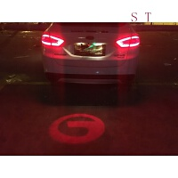 防水汽车 logo投射灯警示防追尾LED激光灯雾灯装饰灯改造后雾灯 红色 传奇车标