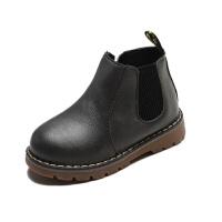 女童短靴秋冬新款男童宝宝雪地靴中小童单鞋加绒儿童马丁靴子