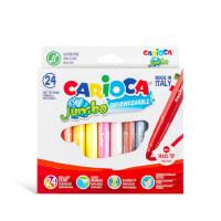 意大利carioca儿童水彩笔套装 无毒可擦涂鸦笔幼儿学生可水洗画笔