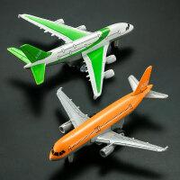 合金飞机A320A380 波音747 777 小飞机模型男孩玩具客机回力 空客B款(2架)