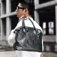 男包 韩版公文包时尚手提包横款休闲斜挎包单肩
