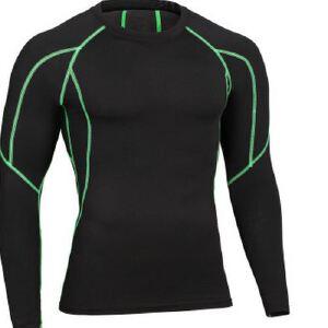健身服男篮球跑步训练服弹力压缩速干衣运动紧身衣运动外套MA31