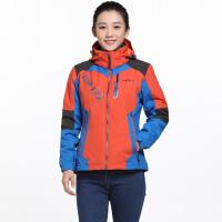 AIRTEX亚特户外冬季女士三合一两件套登山服女防水防风外套冲锋衣
