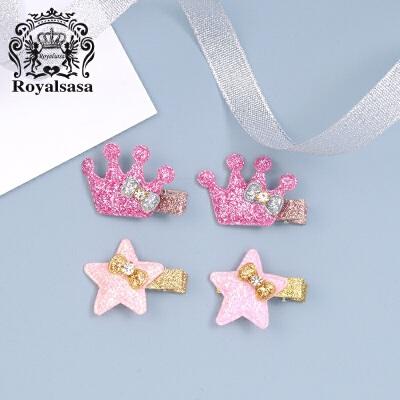 皇家莎莎儿童发饰套装 发夹女孩公主侧夹女童宝宝扎头发绳头饰品