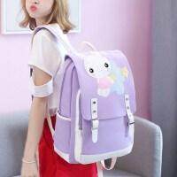 小学生双肩包女孩4-6年级校园韩版小清新可爱兔子少女心帆布书包