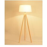 热卖北欧实木3脚落地灯简约现代客厅卧室书房装饰阅读台灯