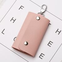 女士小包韩国迷你可爱创意简约小清新多功能汽车锁匙包男式 粉色