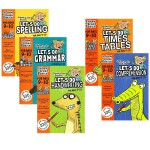 9-10岁 Spelling Math 拼写+乘法 2册全彩版英文家庭练习册 英国小学英语原版教材
