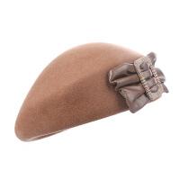 №【2019新款】帽子女秋贝雷帽女ins英伦羊毛呢女士蓓蕾帽黑色毡帽复古礼帽