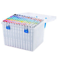 斯塔6801双头彩色油性马克笔学生用手绘服装设计美术绘画动漫专用画笔彩色笔专业马克笔