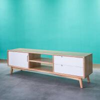 北欧简约实木电视柜客厅地柜矮柜多功能储物柜现代小户型家具定制 组装