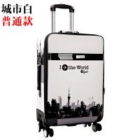 学生帆布拉杆箱男28寸大容量密码箱26寸皮箱行李箱女可爱韩版24寸