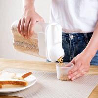 带刻度塑料密封罐五谷储存罐 厨房透明杂粮干货收纳盒食品储物罐