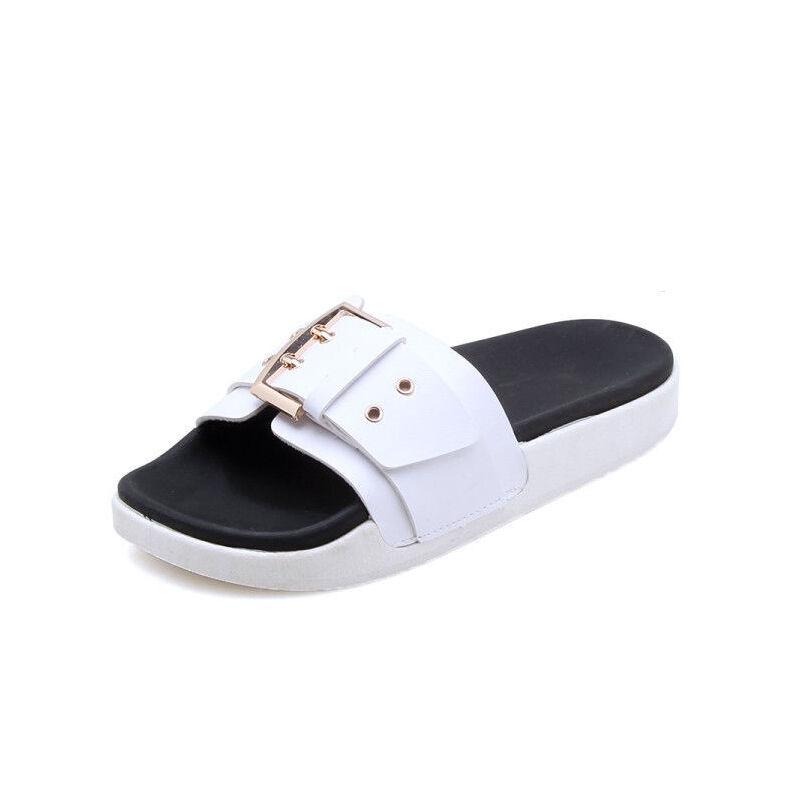 ELEISE美国艾蕾莎新品113-T2011休闲塑料平跟女士凉拖鞋