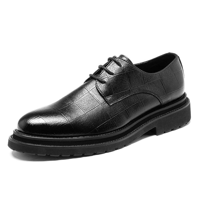 冬季商务英伦正装结婚黑色青年韩版加绒保暖棉鞋休闲皮鞋男潮