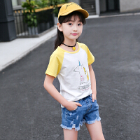 女童t恤夏装新款夏季儿童装上衣女孩大童