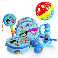 婴儿玩具 3-6-12个月0-1岁新生儿宝宝手摇铃 拨浪鼓摇铃乐器套装