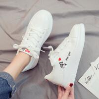 休闲鞋 女士韩版学生休闲鞋 2020新款秋季女式女跑步低帮系带小白鞋ins板鞋女鞋子