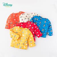 迪士尼Disney童装 男女童羽绒服轻盈保暖外出服冬季新品前开扣外套白鸭绒上衣194S1151