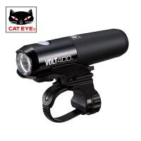 CATEYE猫眼VOLT400自行车灯山地车公路车前灯充电强光手电筒配件